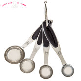 Silver & Black Metal Measuring Spoons